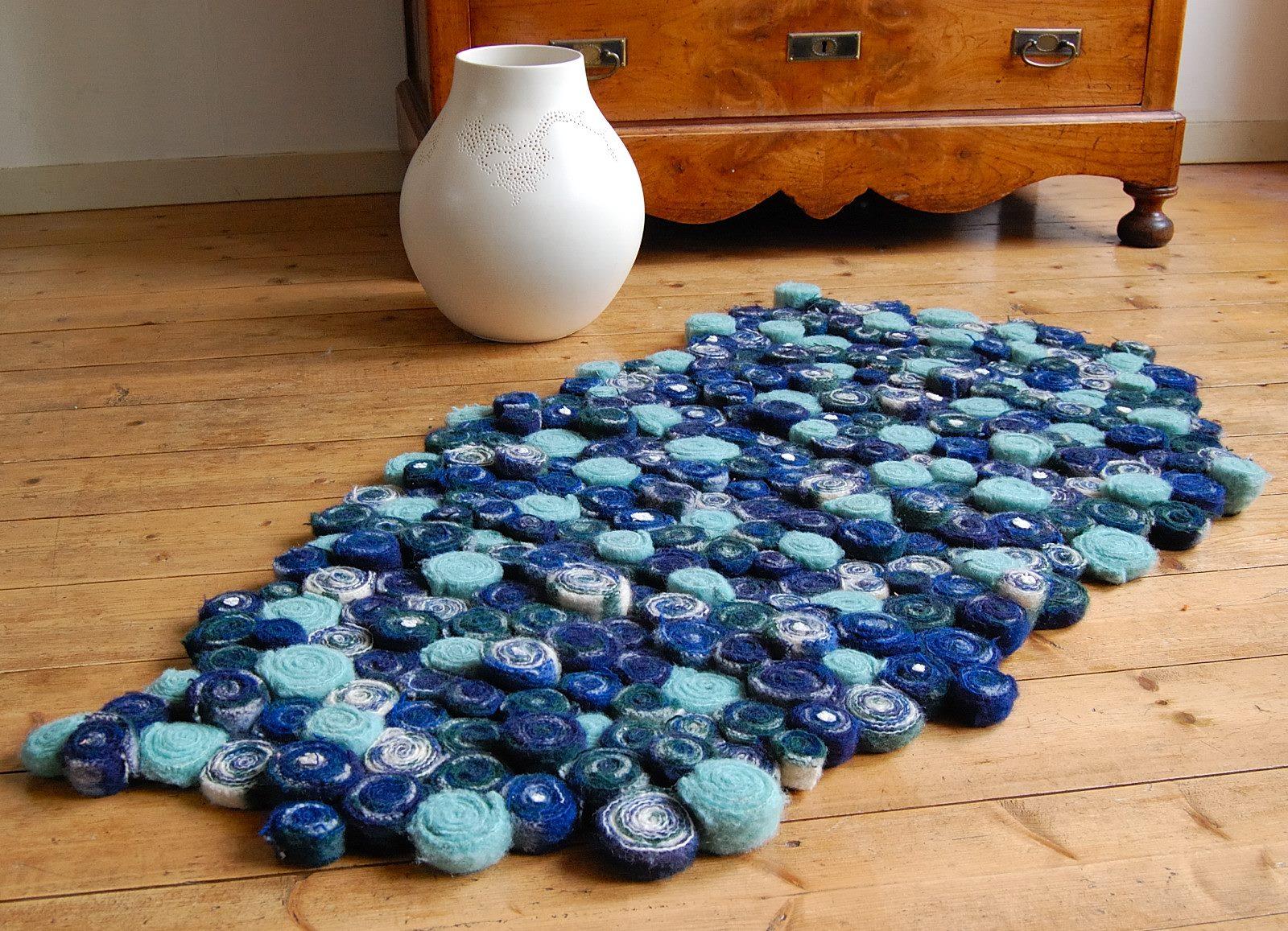 wollendekenkleedblauw